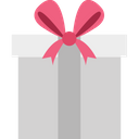 Heart Shaped Love Present Opened Gift Box Icon