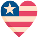 Heart shaped flag Icon
