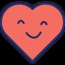 Heart Smiley Icon