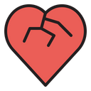 Heartbreak Heart Breakup Icon