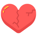 Heartbroken Broken Heart Feelings Icon