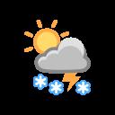 Heavy Snow Thunder Icon