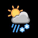 Heavy Sleet Sun Icon