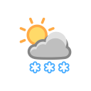 Heavy Snow Sun Icon