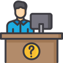 Help Support Reception Desk Customer Care Icon