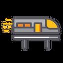 High Speed Transportation Train Railway Icon