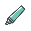 Highlighter Dark Bold Icon