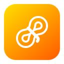 Hiking Rope Tracking Icon