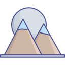 Hill Station Hills Landscape Icon
