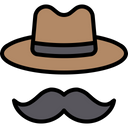 Hipster Cowboy Hat Father Icon