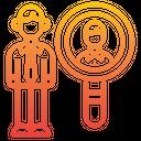 Hire Recruitment Search Icon
