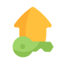 Key Home House Icon