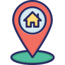 Home Location Address House Icon