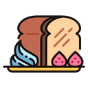 Honey Toast Bread Cream Icon