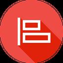 Horizontal Alignment Align Icon