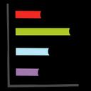 Data Chart Horizontal Bar Chart Analytics Icon