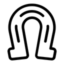 Good Luck Horseshoe Ornamental Icon