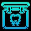 Dentist Board Dental Care Dental Hospital Icon
