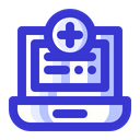 Medical Laptop Health Hospital Icon