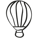 Air Balloon Hot Icon