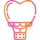 Hot Air Balloon Love And Romance Altitude Honeymoon Icon
