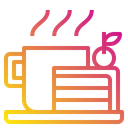 Hot Coffee Cake Restaurant Icon