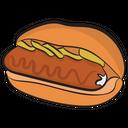 Hot Dog Sandwich Sausage Sandwich Burger Icon