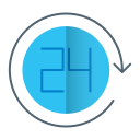 Hour 24 Service Icon
