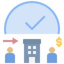 Hourly Salary Working Time Employee Icon