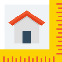 House Measurement Home Square Ruler Icon