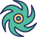 Hurricane Storm Element Icon