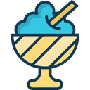 Ice Cream Ice Scoops Dessert Icon