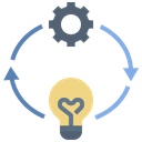Implementation Process Idea Icon
