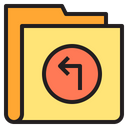 Arrow Folder Import Folder Icon