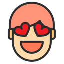 In Love Emotion Face Icon