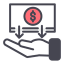 Income Money Hand Icon