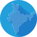 India Asian Map Icon