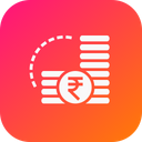 Indian Rupee Money Icon