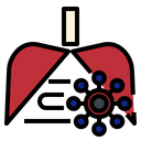 Lung Destroy Breathe Icon