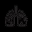 Coronavirus Infected Lungs Virus Icon
