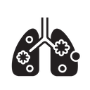 Covid Infected Lungs Virus Icon