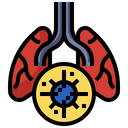 Infected Lungs Respiratory System Lungs Icon