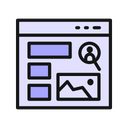 Browser Image Layout Icon