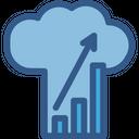 Infographic Statistics Cloud Analytics Icon