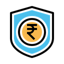 Insurance Indian Rupee Icon