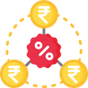Interest Rate Ruppee Discout Icon