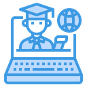 Laptop Student Global Icon