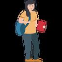 Internee Pupil Schoolgirl Icon