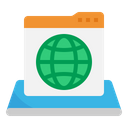 Internet Website Globe Icon