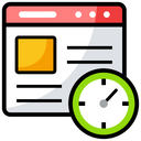 Internet Speed Page Load Time Web Load Speed Icon